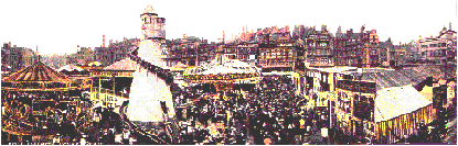 Nottingham Goose Fair panorama